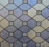 statisch raamfolie glas in lood paars/blauw/fluoret
