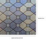 Statisch raamfolie glas in lood paars/blauw/fluoriet (45cm)_