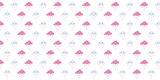Statisch raamfolie wolkjes roze (46cm)_