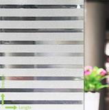 Statisch raamfolie office strepen (geschikt voor dubbel, HR+ en HR++ glas) (46cm) _
