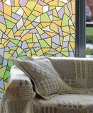 Raamfolie glas mozaiek kleuren (45cm)_