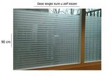 Raamfolie structuur voor HR++ glas (90cm)_