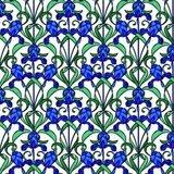 Raamfolie blauwe bloemen_