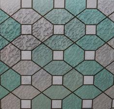 Statisch raamfolie glas in lood groen smaragd (45cm)