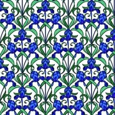 Raamfolie blauwe bloemen (45cm)