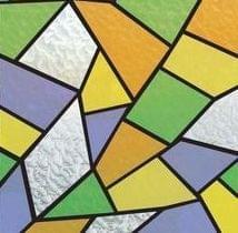 Raamfolie glas mozaiek kleuren (45cm)