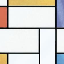 Raamfolie Mondriaan (90cm)