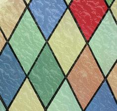 Raamfolie glas in lood kleuren (45cm)