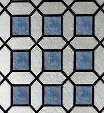 Raamfolie glas in lood blauw (45cm)