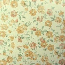 Plakfolie bloemetjesbehang oranje (45cm)