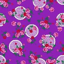Plakfolie funky flower paars (45cm)