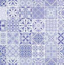 Plakfolie Blue Tiles (45cm)