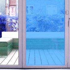 Aslan raamfolie transparant blauw RAL 5019 (125cm)