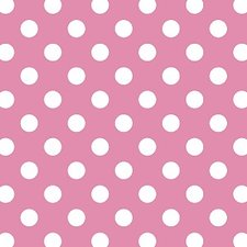 Breed plakfolie polkadot stippen roze 90cm