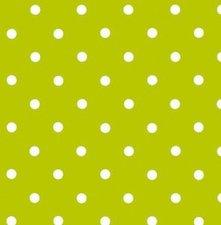 COUPON plakfolie groen met witte stippen 200x45cm