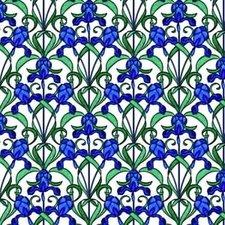 Raamfolie blauwe bloemen