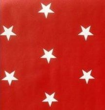 Kitsch Kitchen plakfolie Star White On Red 200x45cm