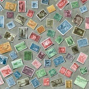 Plakfolie postzegels (45cm)