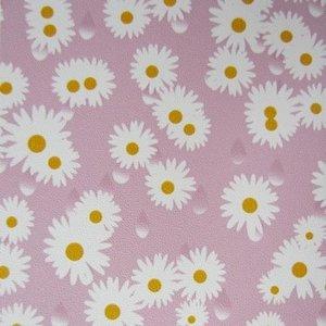 plakfolie madeliefje bloemen roze