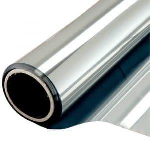 Zonwerend raamfolie voor HR++ glas zilver (46 cm)