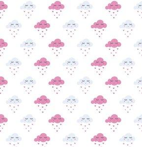 lineafix statisch raamfolie wolkjes roze