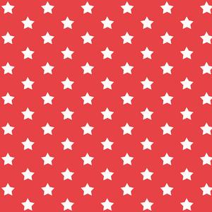 Plakfolie sterren rood (45 cm)