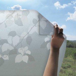Statisch raamfolie bladeren 46cm (geschikt voor dubbel, HR+ en HR++ glas)