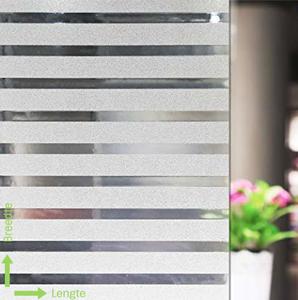 Statisch raamfolie office strepen (geschikt voor dubbel, HR+ en HR++ glas) (46cm)