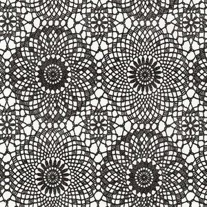 Plakfolie gehaakt patroon zwart