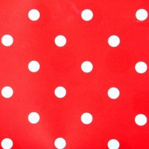 Kitsch Kitchen plakfolie rood met witte stippen 200x45cm