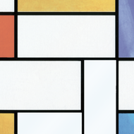 raamfolie Mondriaan